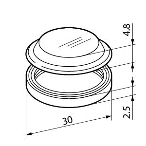 Push Button Cover for use with LB Series Pushbutton Switch