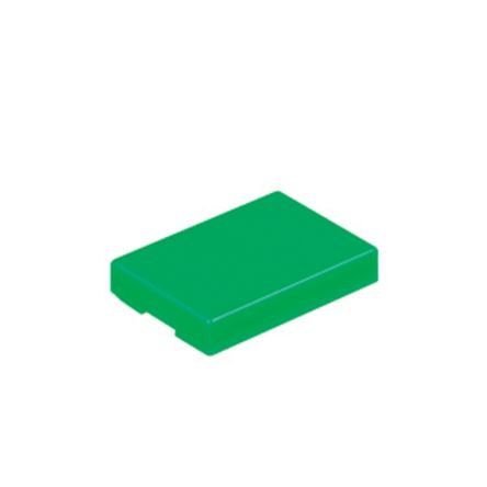 Green Push Button Cap, for use with UB Series Non-Illuminated Pushbuttons, Rectangular Opaque Cap