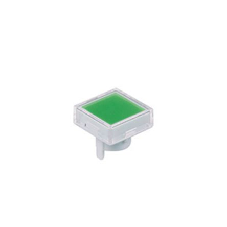 Green/Clear Push Button Cap, for use with KB Series Pushbuttons, Square Cap