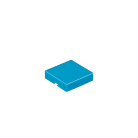 Blue Push Button Cap, for use with UB Series Non-Illuminated Pushbuttons, Square Opaque Cap