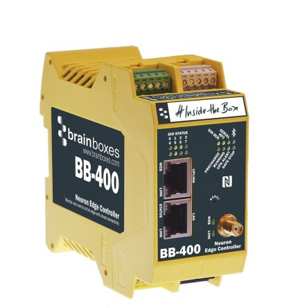 Brainboxes 1 (Ethernet LAN), 1 (Ethernet Uplink) RJ45 port Industrial Hub, 100Mbit/s