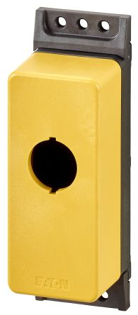 Eaton M22 Enclosure, 1 Hole Yellow, 22.5mm Diameter