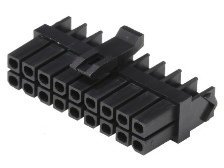 Molex MicroFit Male Connector Housing, 3mm Pitch, 18 Way, 2 Row