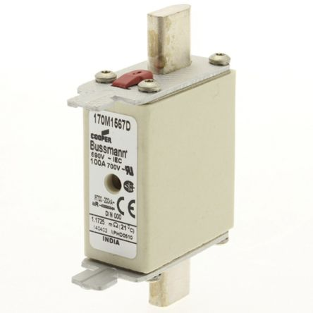 Cooper Bussmann 100A 000 T Centred Tag Fuse,