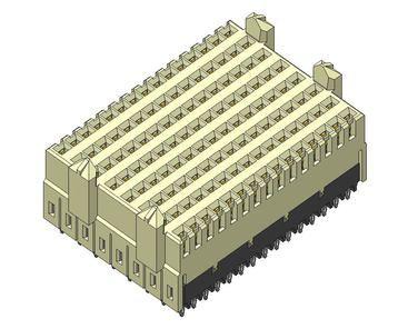 Amphenol FCI Airmax VS Series 2mm Pitch Backplane Connector, Female, Vertical, 8 Column, 120 Way 10040993