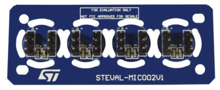 STMicroelectronics STEVAL-MIC002V1, Microphone Coupon Board Microphone Sensor Daughter Board for MP34DT06J for