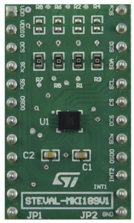 STMicroelectronics STEVAL-MKI189V1, LSM6DSM Adapter Board Adapter Board for LSM6DSM for STEVAL-MKI109V3 Motherboard,