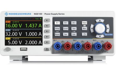 Rohde & Schwarz Digital Bench Power Supply 100W, 3 Output 0 → 32V 0 → 3A