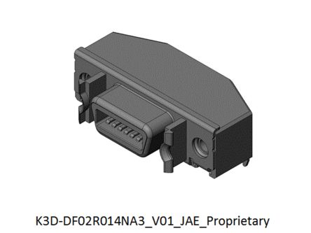 JAE, DF02 14 Way Right Angle Rectangular Connector Socket, 1.27mm Pitch