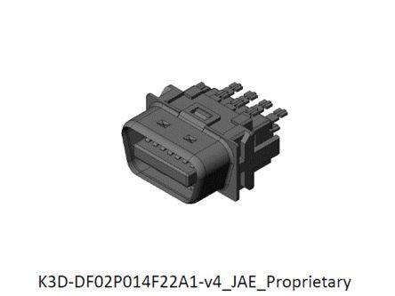 JAE, DF02 14 Way Rectangular Connector Plug, 1.27mm Pitch