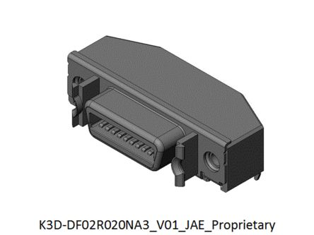 JAE, DF02 20 Way Right Angle Rectangular Connector Socket, 1.27mm Pitch