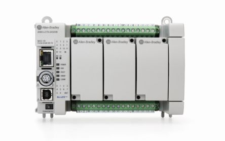 Allen Bradley Micro870 PLC CPU HMI Interface, 128 kB Program Capacity, 14 Inputs, 10 Outputs, 12/24 V