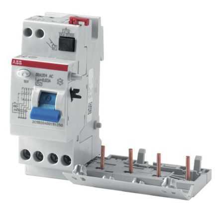 4P 63 A, RCD Switch, Trip Sensitivity 30mA, DIN Rail DDA200 product photo