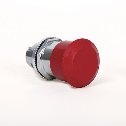 TH880003000 | Johnson Electric, Red, Twist to Reset 24mm Mushroom