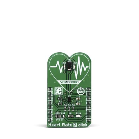 Development Kit Heart Rate 7 Click for use with Calorie Expenditure, Heart Rate Monitoring, Similar Health-Related