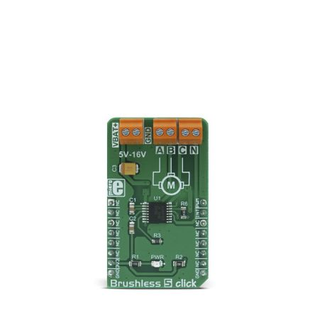 Development Kit Brushless 5 Click for use with Efficient Air Ventilation Systems, Sensorless BLDC Motor Driving, Silent