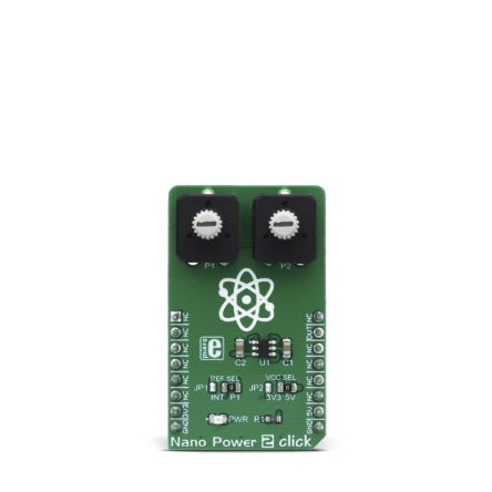Development Kit Nano Power 2 Click for use with Internal Reference Voltage Pin, Voltage Level Comparison