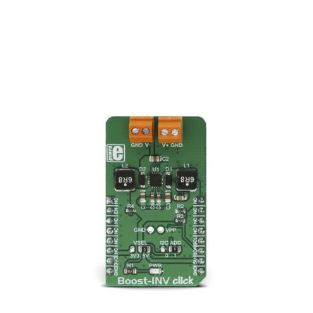 Development Kit DC/DC Voltage Converter for use with LCD and OLED displays, Low Power Audio Applications, Very Compact