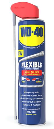 WD-40 Lubricant Multi Purpose 400 ml Flexible Straw System Aerosol