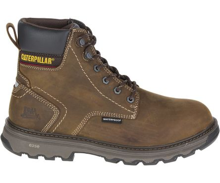 CAT Precision Brown Composite Toe Cap Men Safety Shoes, UK 6, EU 40, US 7