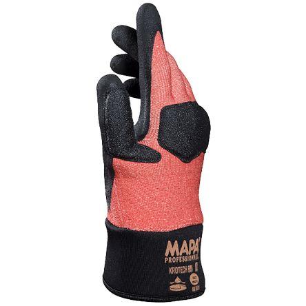 Mapa Krotech Nitrile Nitrile-Coated Cut Resistant Gloves, size 7, Orange