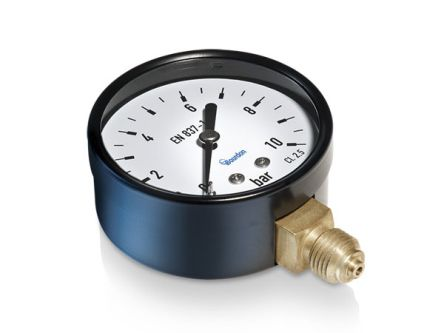 Analogue Positive Pressure Gauge Bottom Entry 2.5bar