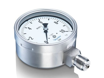 Bourdon MEX5D30B18 Analogue Positive Pressure Gauge Bottom Entry 2.5bar