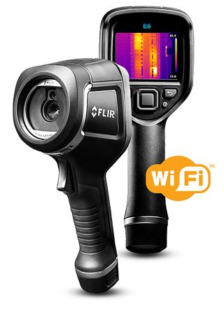 FLIR E6 xt Thermal Imaging Camera with WiFi, Temp Range: -20 → +250 °C 240 x 180pixel