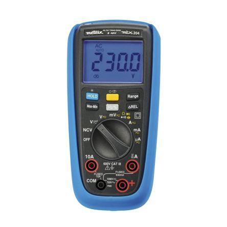 Metrix MTX204 Digital Digital Multimeter, 10A ac 750V ac 10A dc 1000V dc 60MΩ