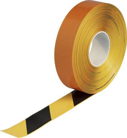 Brady Black/Yellow Vinyl Lane Marking Tape, 50.8mm x 30.48m