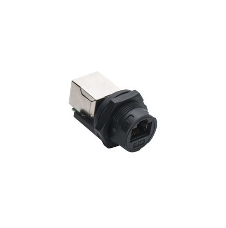 Amphenol Female Cat5e RJ45 Connector, Panel Mount, Waterproof