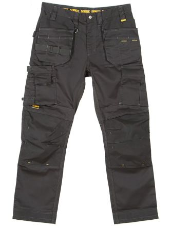 Dewalt 3D Trouser Black Cotton, Polyester Trousers Imperial Waist 36in product photo