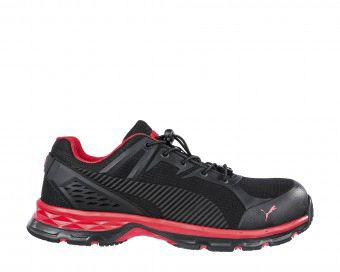 meilleur service 792c3 6e621 Black Puma Safety Fuse Motion Red Mens Safety Trainers 39 ...