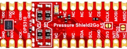 Infineon S2GOPRESSUREDPS310TOBO1, Shield2Go Equipped with XENSIV™ Barometric Pressure Sensor Barometric Pressure Sensor