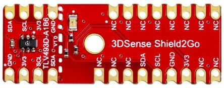Infineon S2GO3DSENSETLV493DTOBO1, Shield2Go Equipped with TLV493D-A1B6 - XENSIV™ 3D Magnetic Sensor Demonstration Board