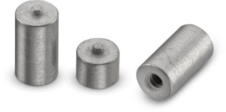 97730256332R, 2.5mm High Steel Round Spacer With 3.3mm Diameter and 0.8mm Bore Diameter for M1.6 Screw
