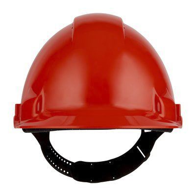 G3000 Red ABS Hard Hat, Ventilated