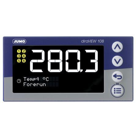 00694787 , LCD, Segment Digital Panel Multi-Function Meter for Pressure, Temperature, 96mm x 48mm