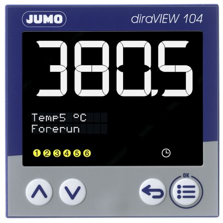 00694788 , LCD, Segment Digital Panel Multi-Function Meter for Pressure, Temperature, 96mm x 96mm