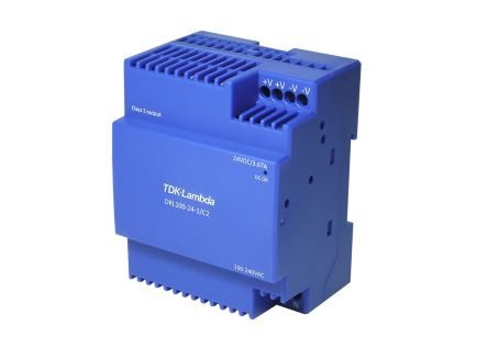 TDK-Lambda, DRL10-100 DIN Rail Panel Mount Power Supply, 24V dc Output Voltage, 4.2A Output Current