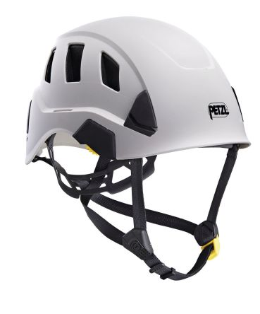 Petzl Strato Vent White Hard Hat with Chin Strap, Ventilated