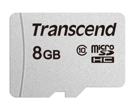 Transcend 8 GB MicroSDHC Card A1, Class 10, UHS-I U1, UHS-I U3, V30