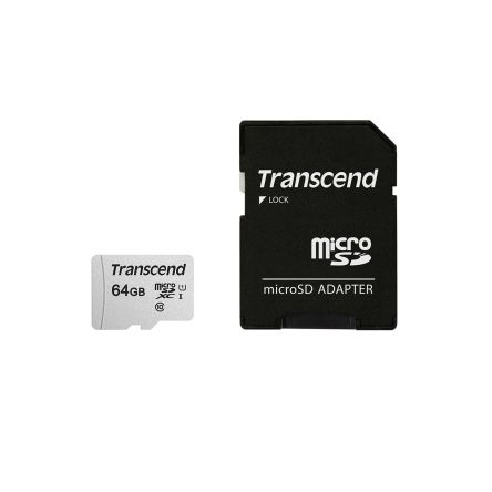 Transcend 64 GB MicroSDXC Card A1, Class 10, UHS-I U1, UHS-I U3, V30