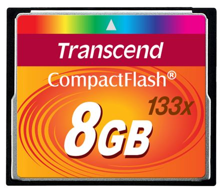 Transcend CF133 CompactFlash 8 GB MLC Compact Flash Card