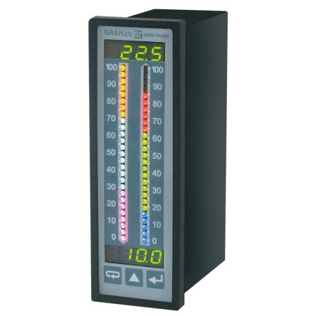 Sifam Tinsley NA6PLUS-TRGU14100U0 , LED Digital Panel Multi-Function Meter, 137.5mm x 44mm