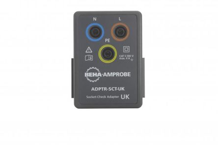Beha-Amprobe ADPTR-SCT-UK Electrical Installation Tester Socket Adapter, Accessory Type Socket Check Adapter, For Use