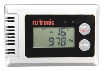 Rotronic Instruments BL-1D-SET Humidity, Pressure, Temperature Data Logger, Maximum Temperature Measurement +70 °C,