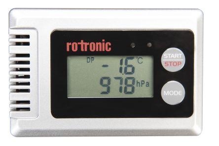 Rotronic Instruments BL-1D Humidity, Pressure, Temperature Data Logger, Maximum Temperature Measurement +70 °C, Maximum