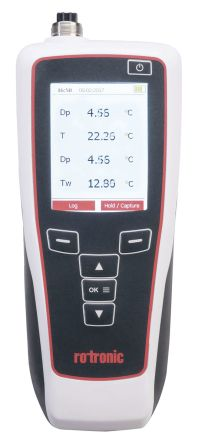 Rotronic Instruments HP32 Handheld Thermohygrometer, Max Temperature +200°C, Max Humidity 100%RH