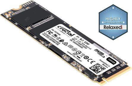 Crucial® P1 1000GB 3D NAND NVMe PCIe® M